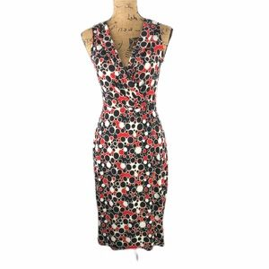 Donna Morgan Fitted Faux Wraparound Dress